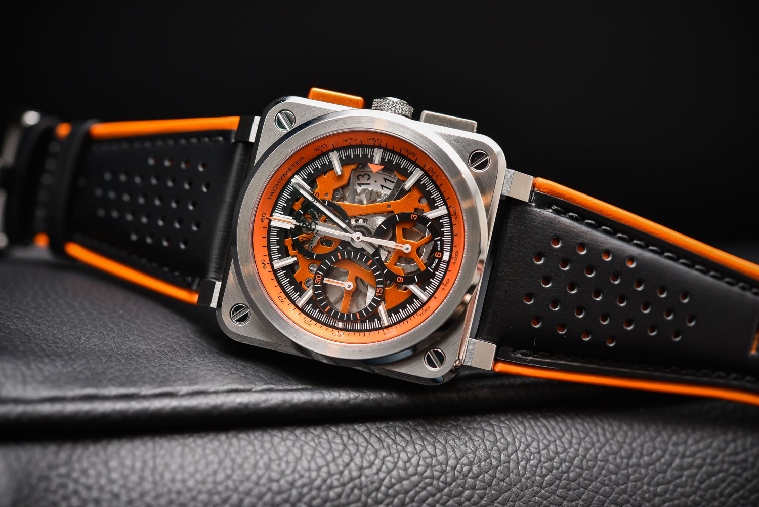 neue uhr bell ross br03 94 aerogt orange skeleton chronograph uhrforum. Black Bedroom Furniture Sets. Home Design Ideas