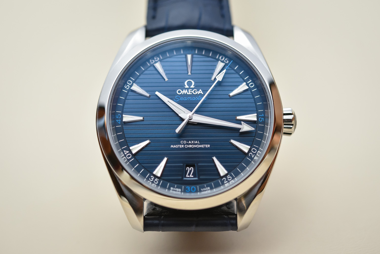 Omega Aqua Terra Blau 38 5