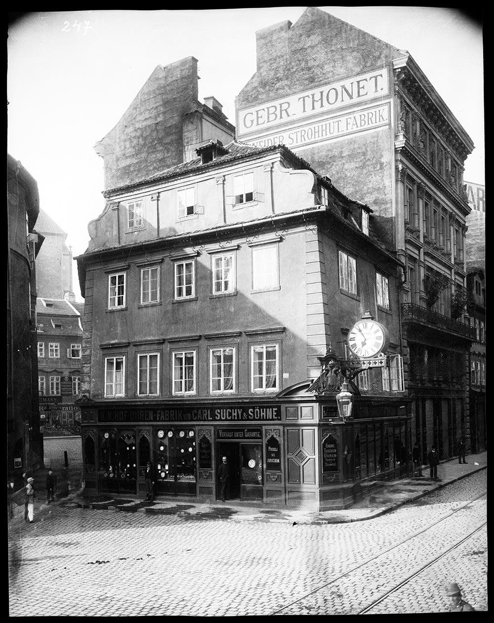 Carl Suchy & Söhne clock factory in Prague, then part of the Austrian Empire