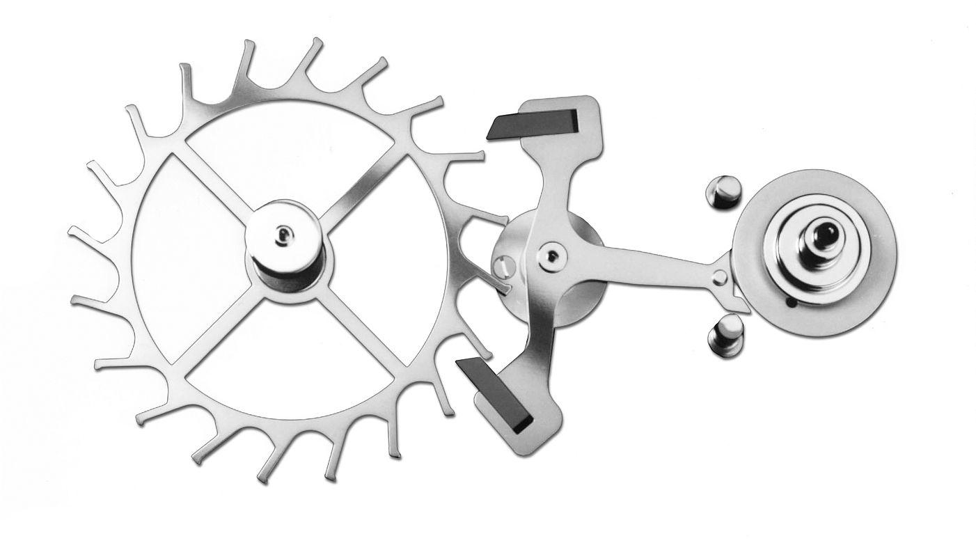 Swiss lever escapement scheme