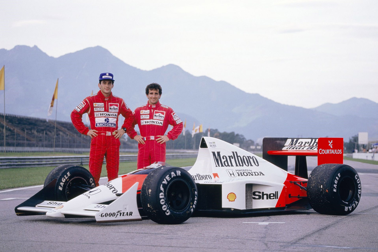 1989 marlboro mclaren honda mp4 5 ayrton senna alain prost brazillian grand prix jacarepagua. Black Bedroom Furniture Sets. Home Design Ideas