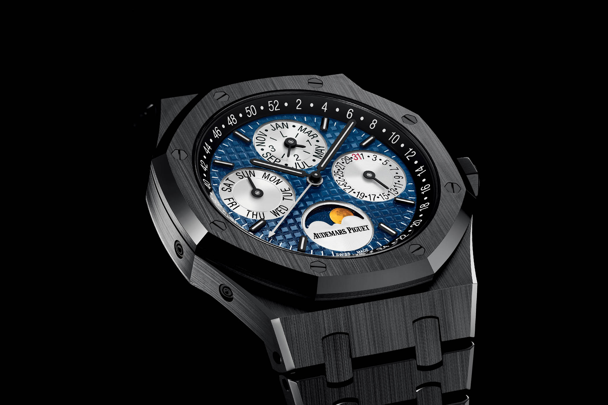 Audemars Piguet Royal Oak Perpetual Calendar black ceramic blue dial - Only Watch 2017