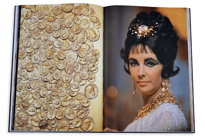 Elizabeth Taylor wearing Bulgari Monete