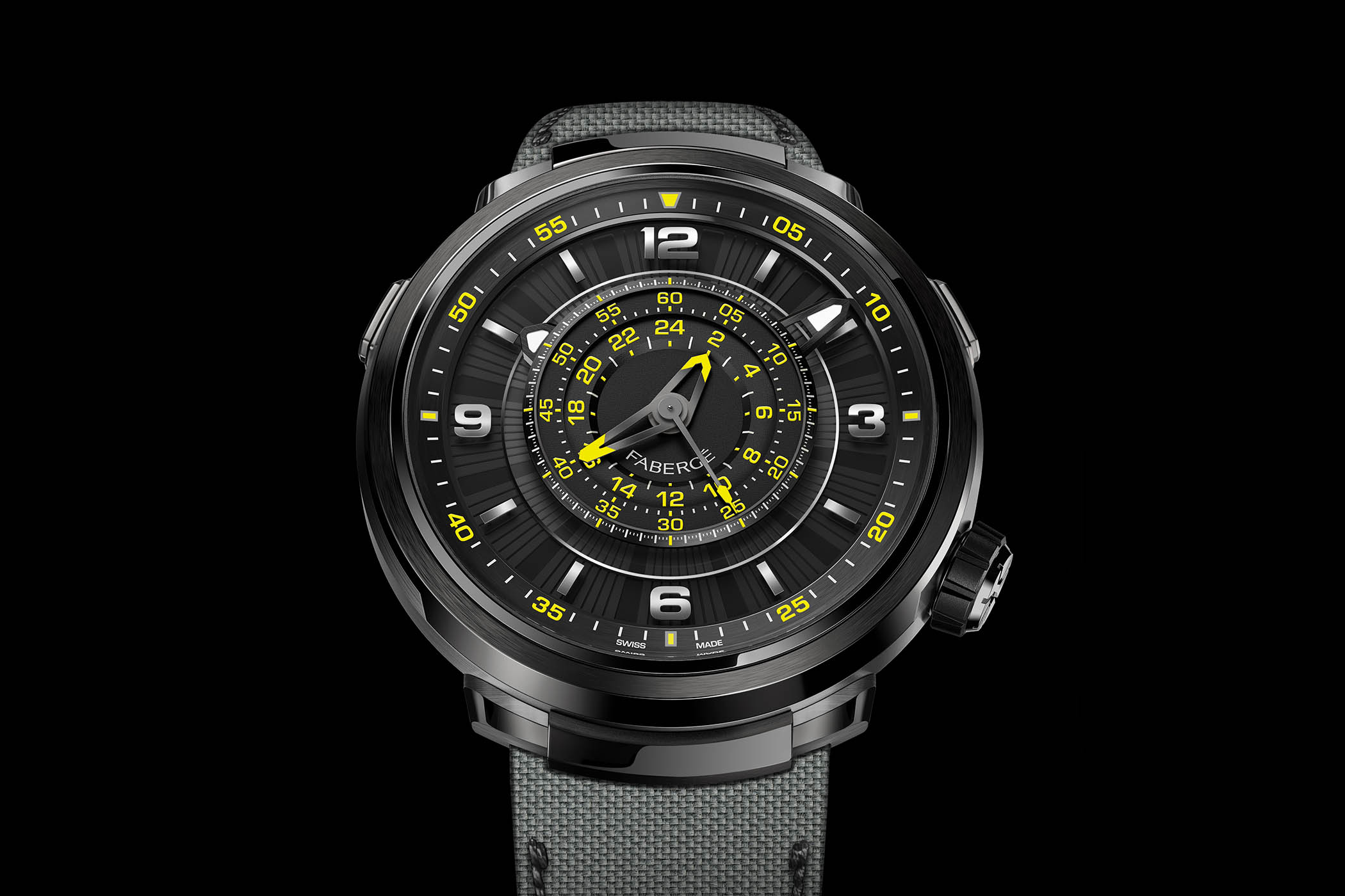 Fabergé Visionnaire Chronograph Only Watch 2017 Black-and-Yellow