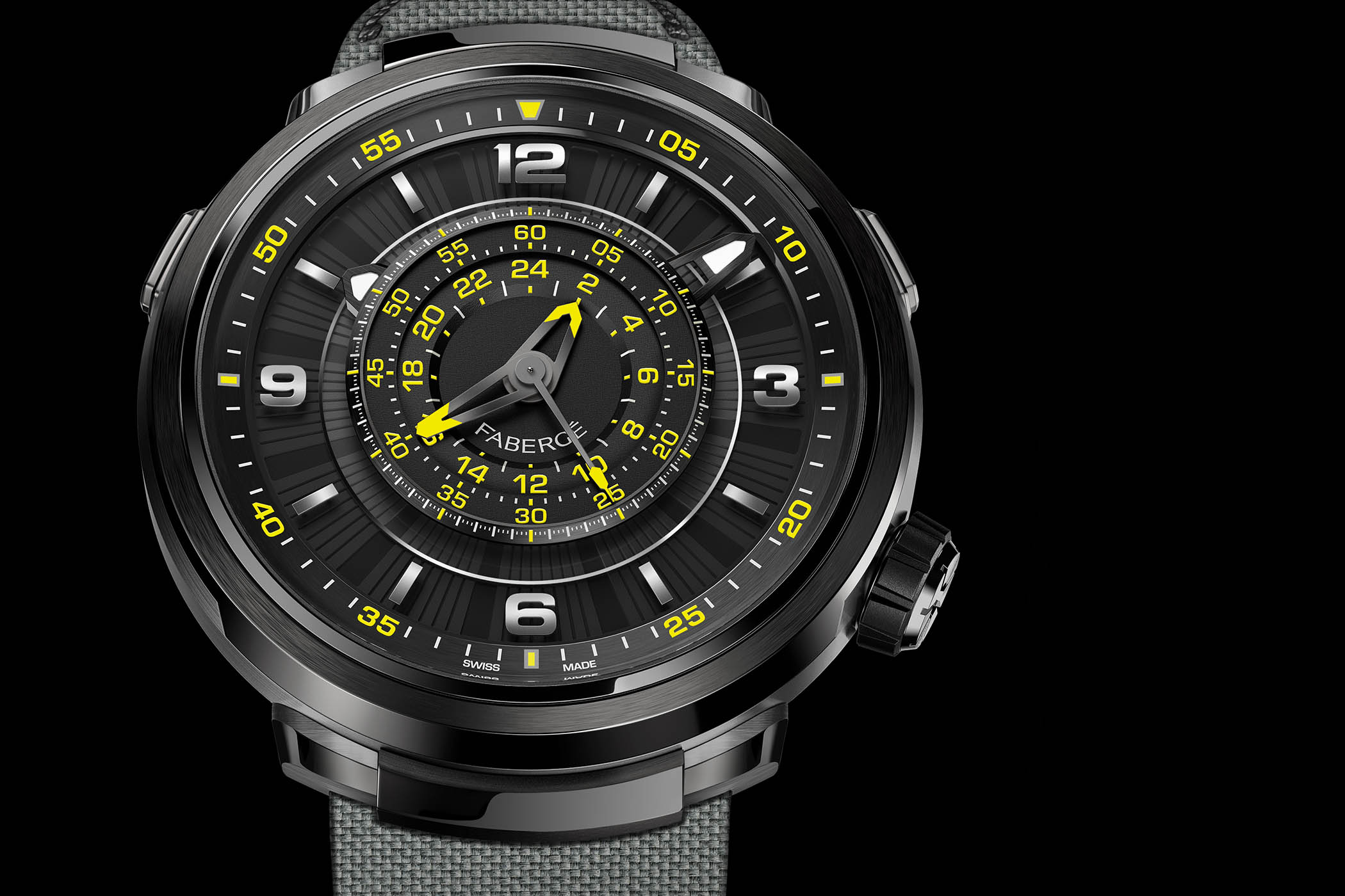 Only Watch 2017 – Unique Black-and-Yellow Fabergé Visionnaire Chronograph (with revolutionary movement)