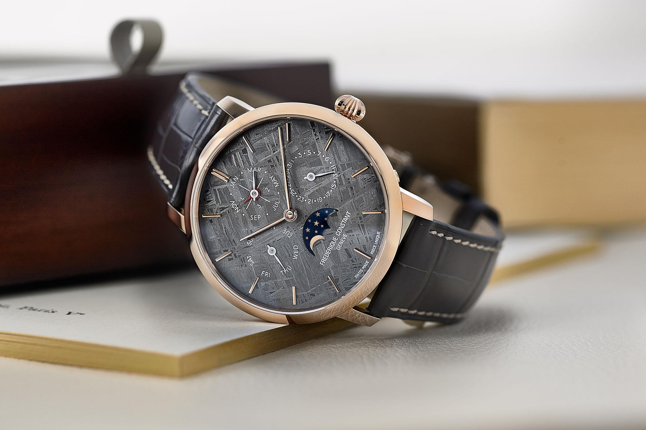 Frederique Constant Manufacture Perpetual Calendar Unique Meteorite Dial Only Watch 2017