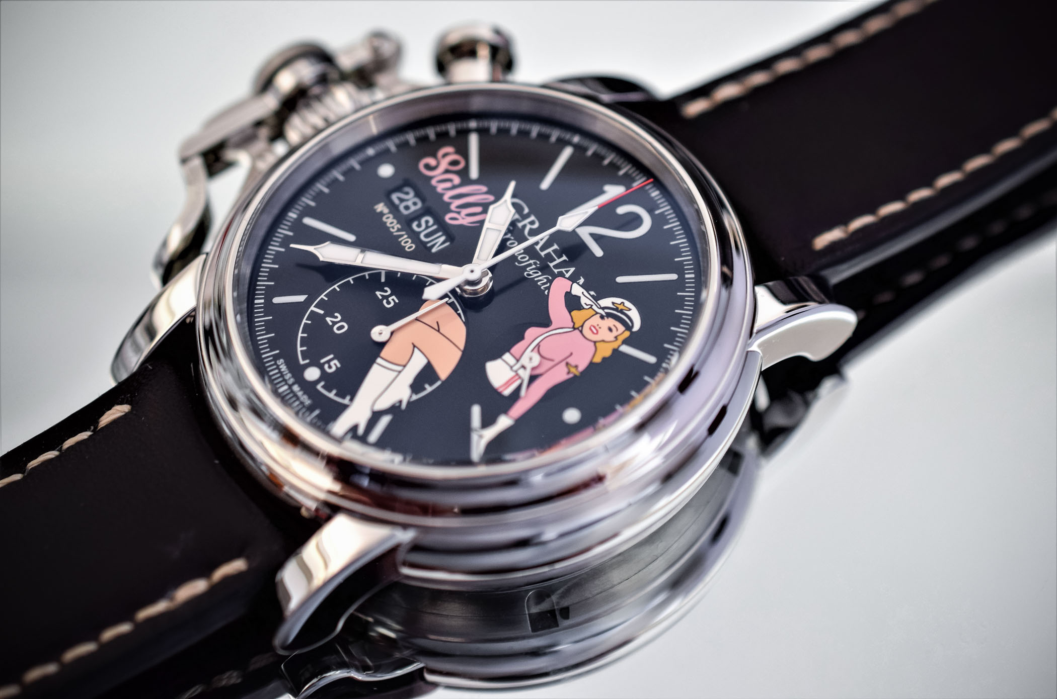 Graham Chronofighter Vintage Nose Art Ltd Pinups