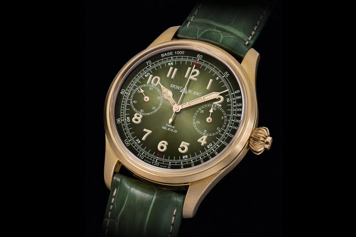 Montblanc 1858 Chronograph Tachymeter With Bronze Green Dial - only watch 2017