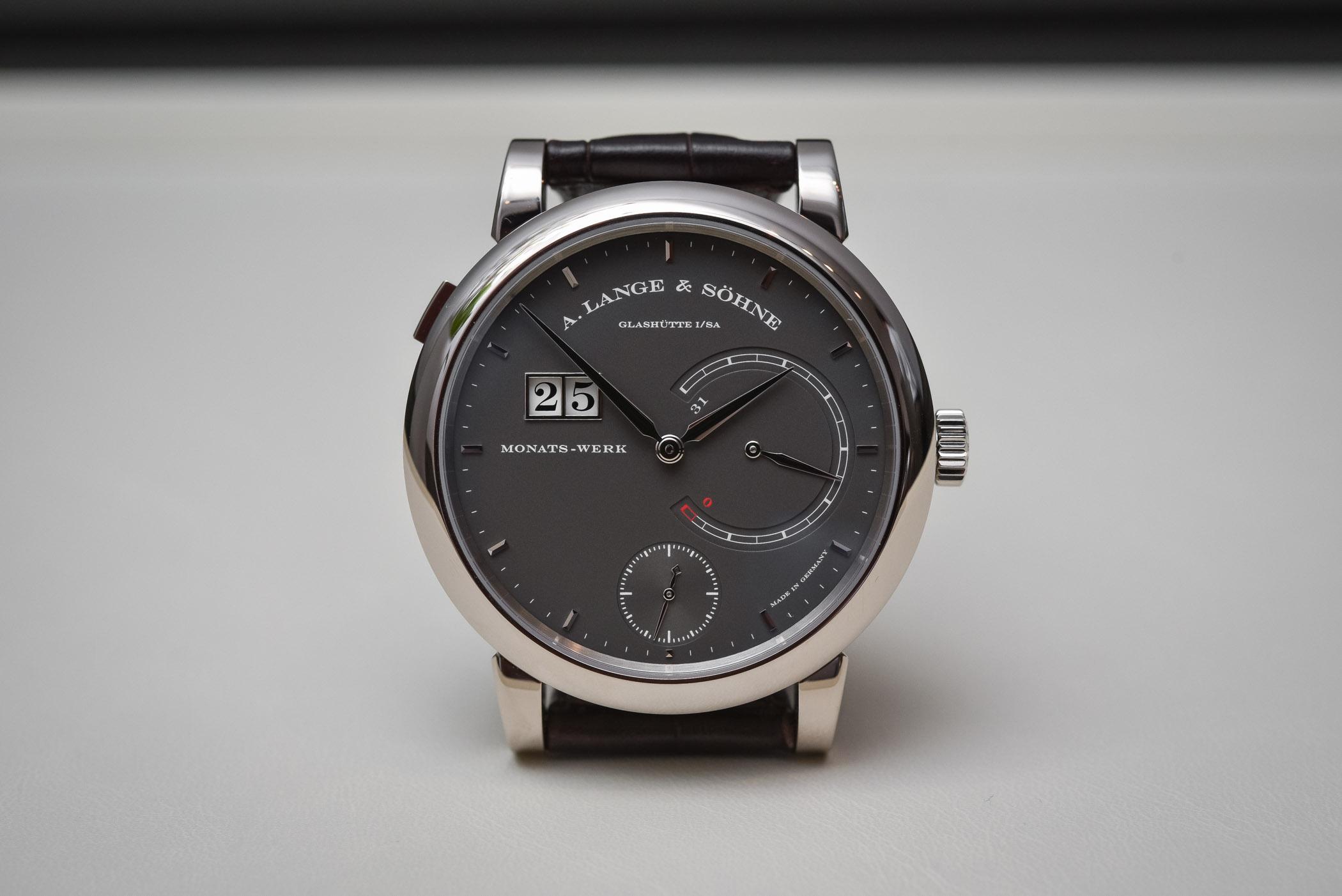 A. Lange Sohne Lange 31 grey dial white gold 2017