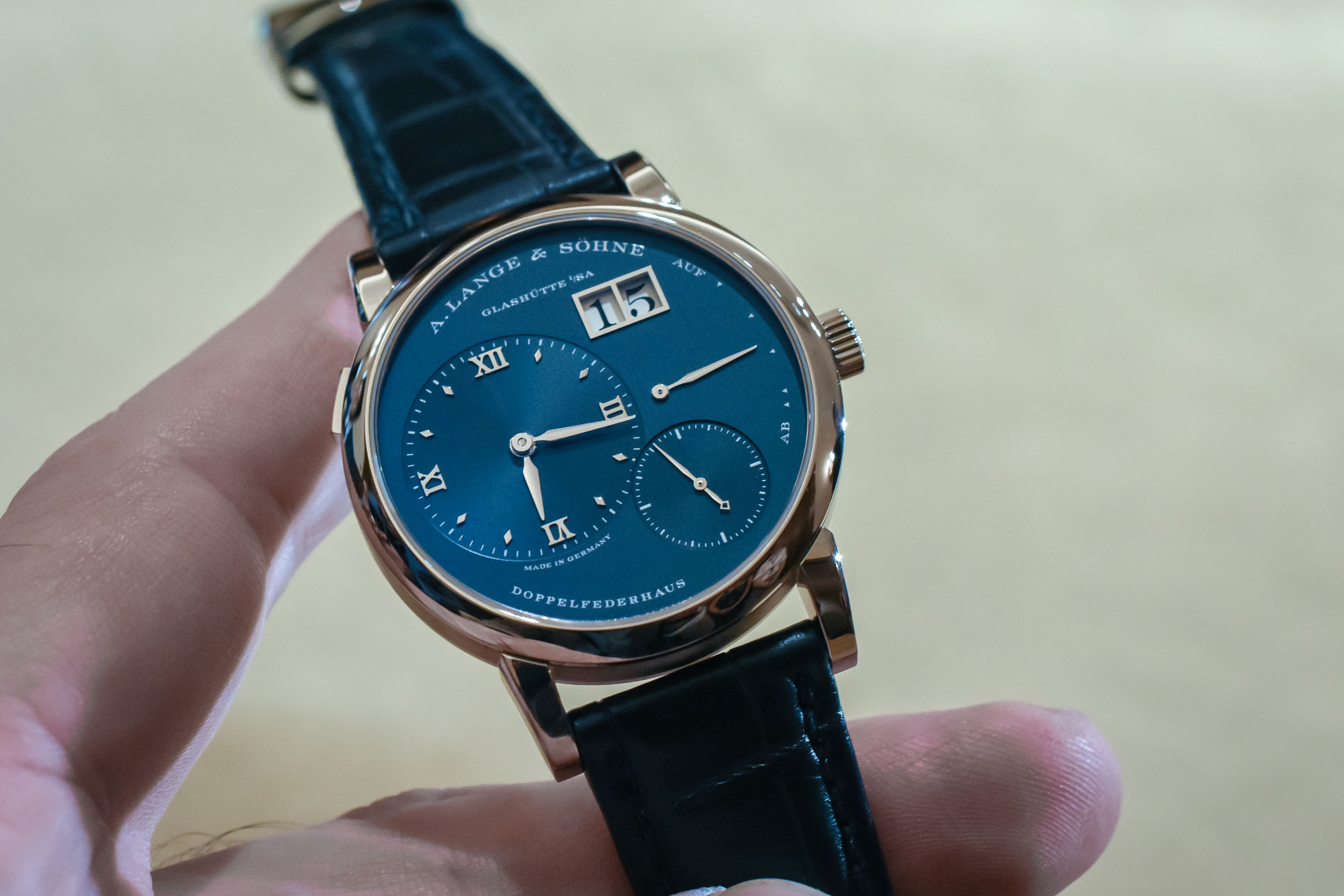 A. Lange and Sohne Lange 1 Blue Dial 191.028