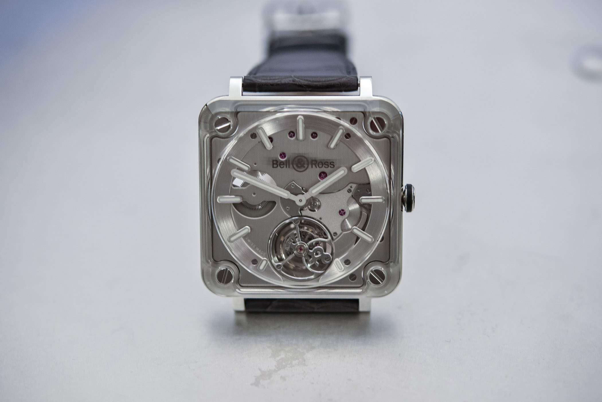 review bell ross br x2 tourbillon micro rotor unusual technical monochrome watches On microtourbillon watches