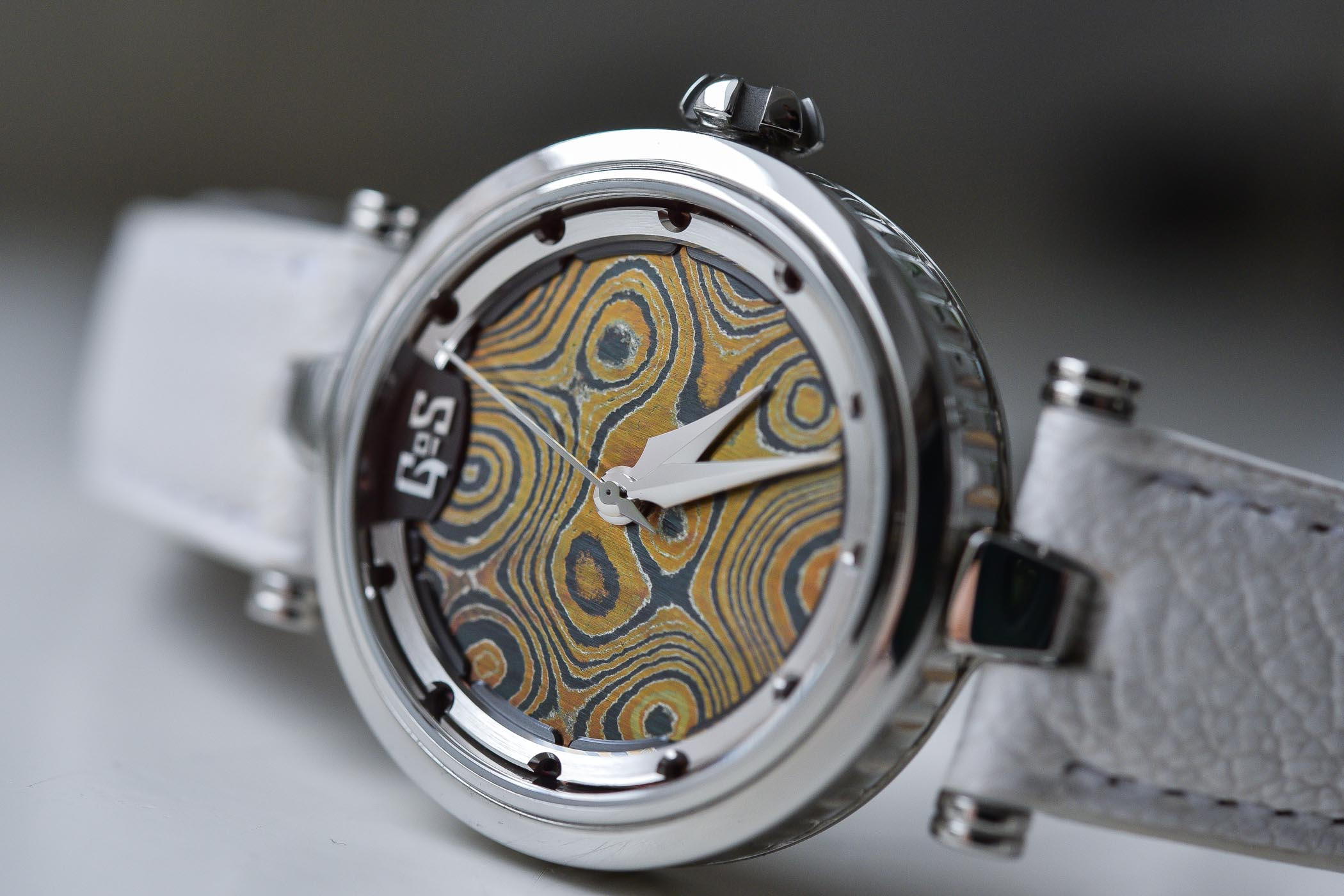 GoS Watche Sarek Ladies Damascus steel dial