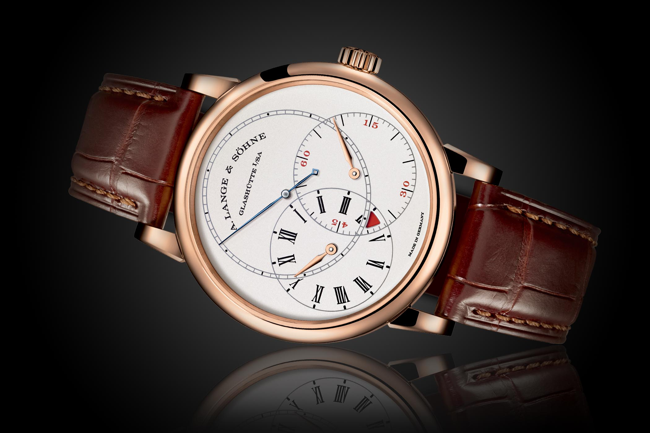 A. Lange & Söhne Richard Lange Jumping Seconds Now Offered In Pink Gold