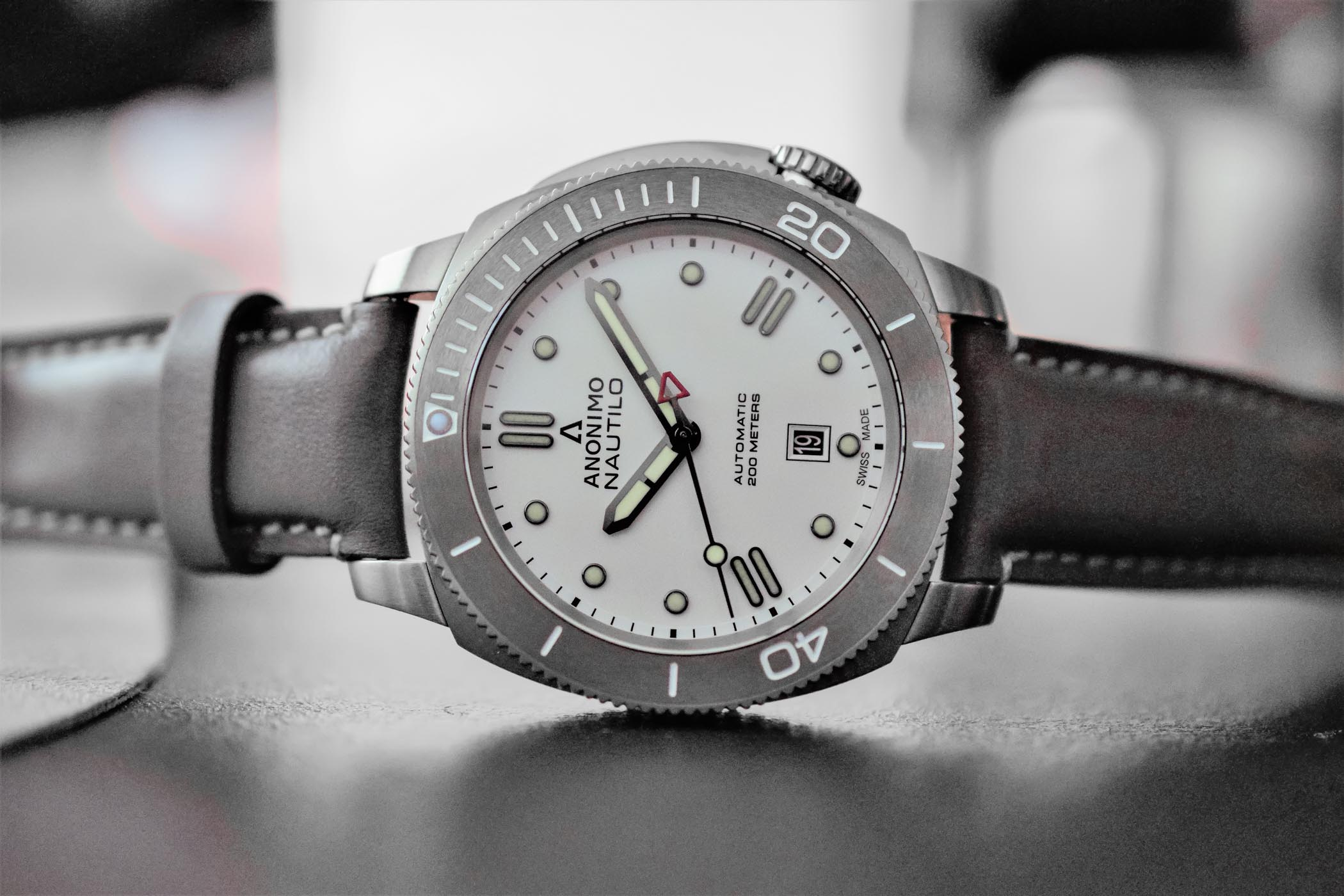 laud minimalist grey border silver with leather dial featuring watches products white real marble black watch case strap