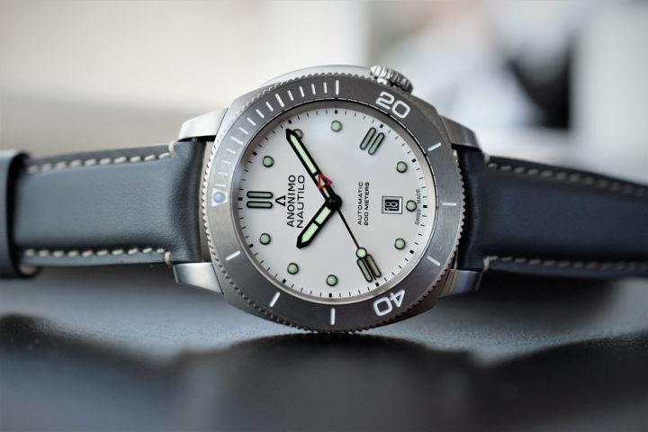Anonimo Nautilo Bianco diver white dial