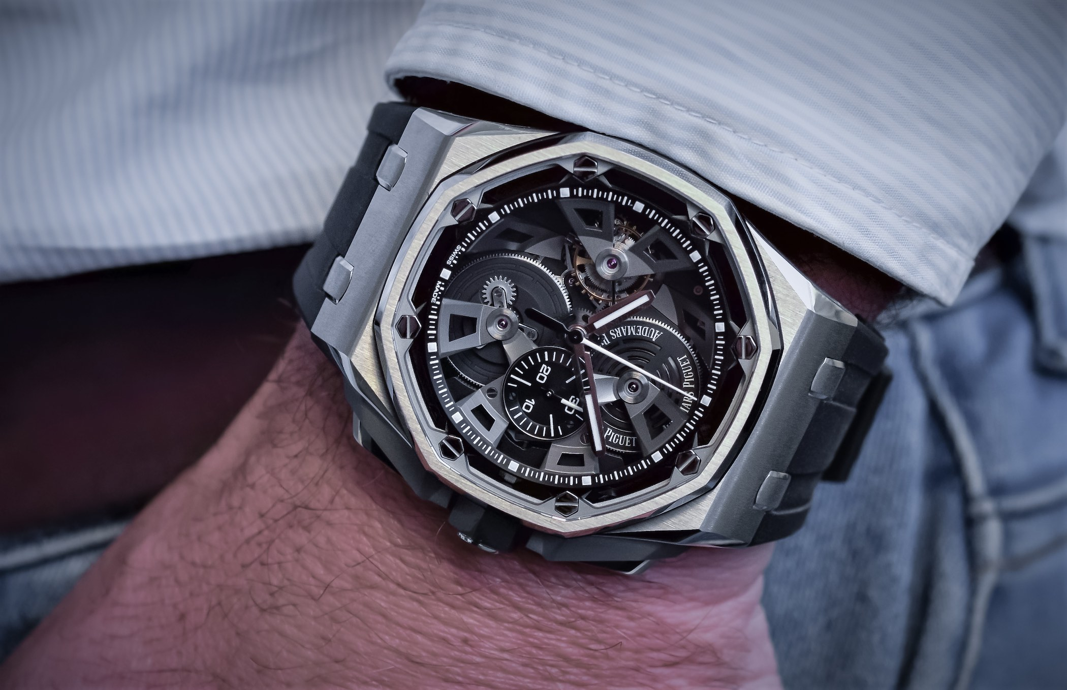 Audemars piguet royal oak offshore tourbillon chronograph 25th anniversary 26421 review price for Audemars watches