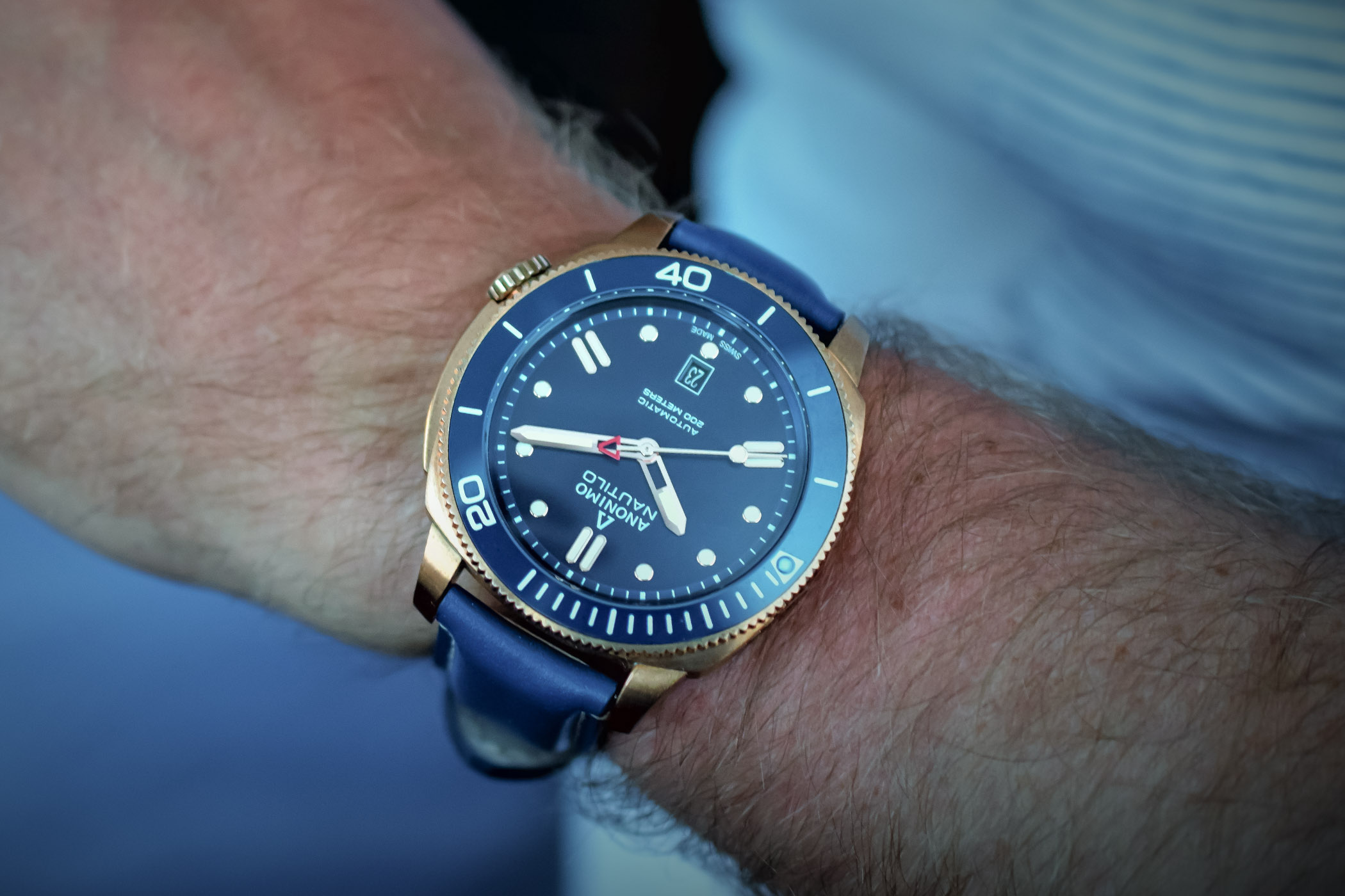 Buying Guide Bronze Watches - Anonimo Nautilo Bronze Blue