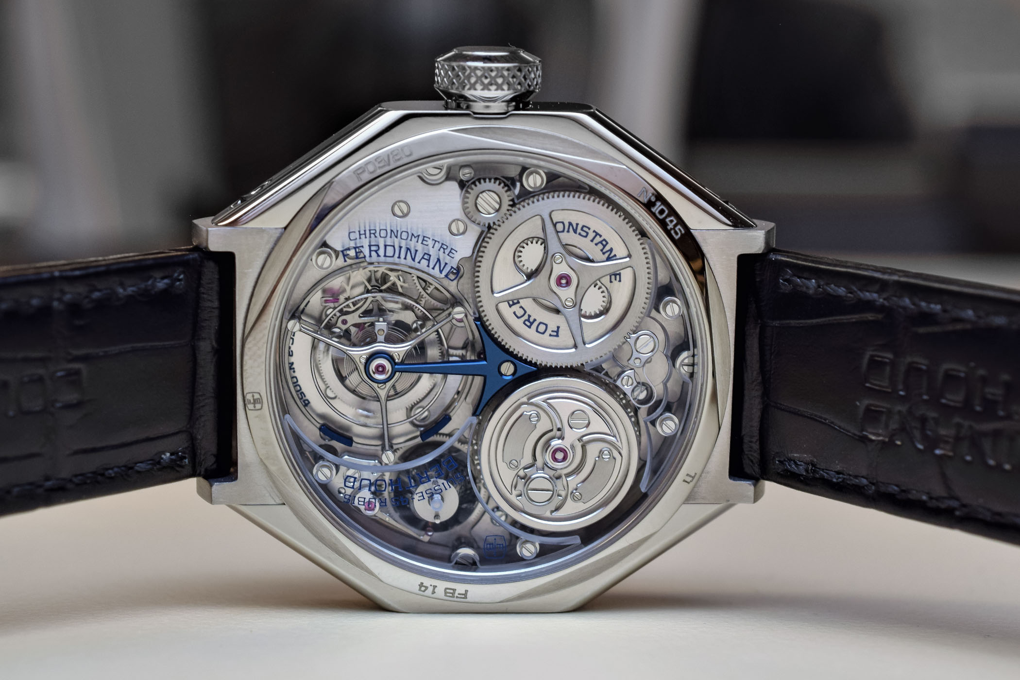 Ferdinand Berthoud Chronometre FB1.4 Titanium Case - Sapphire Bridges