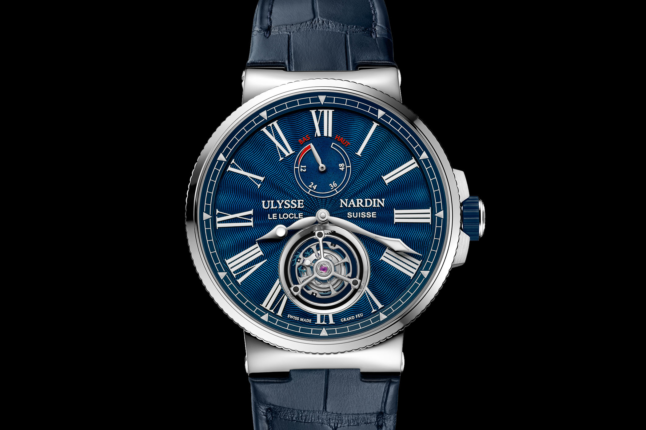 Introducing ulysse nardin marine tourbillon blue grand feu pre sihh 2018 specs price for Marine watches