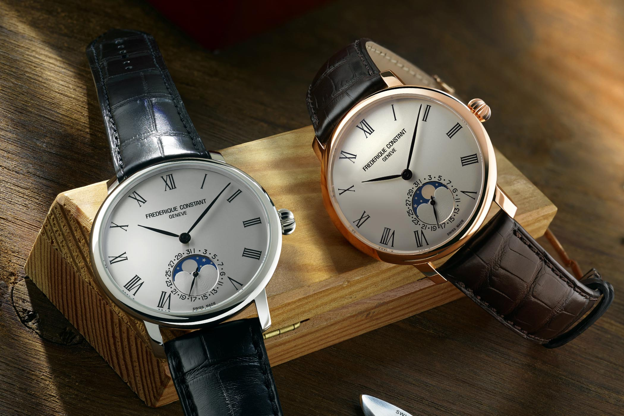 Frederique Constant Slimline Moonphase Manufacture With Roman Numerals