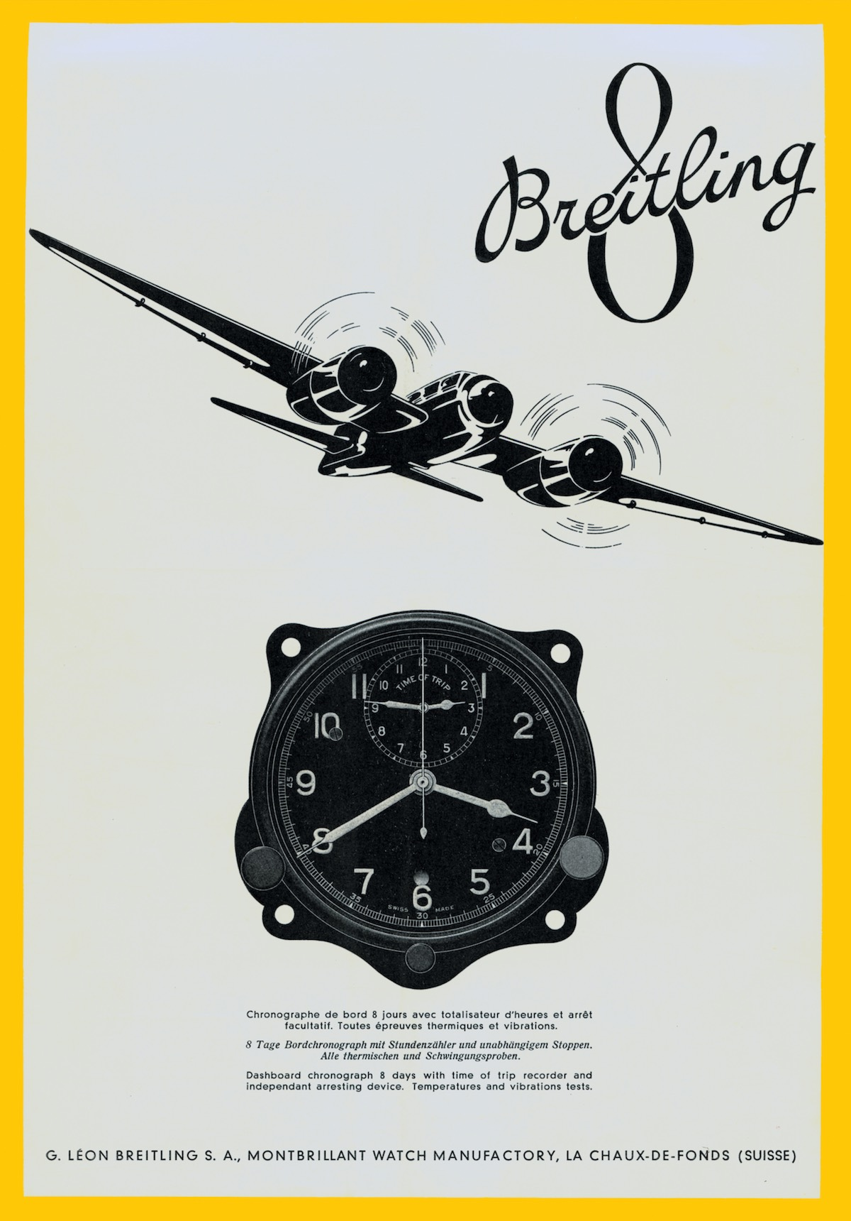 Breitling The Book - annonce 1941