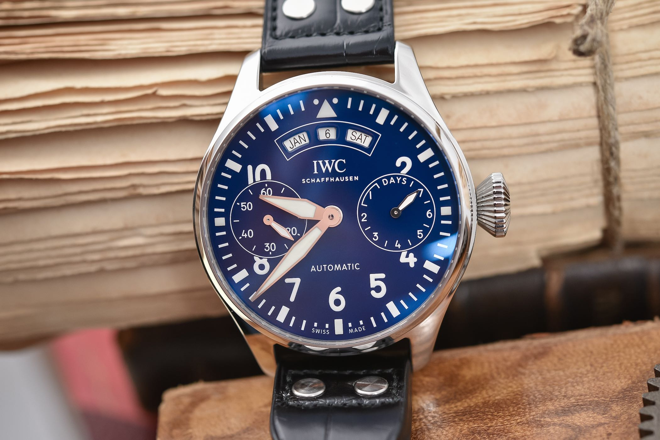 largefront pilots paradise iwc watch shop annual pilot big calendar jewels watches spitfire in s