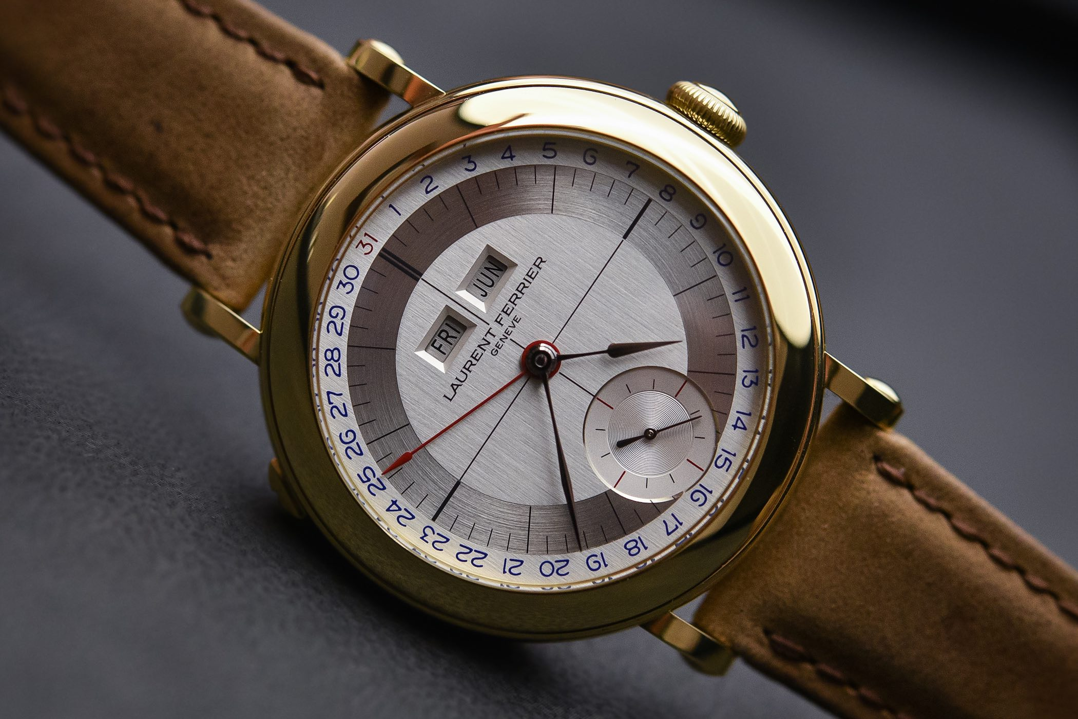 Laurent Ferrier Galet Annual Calendar School Piece Pale Yellow Gold
