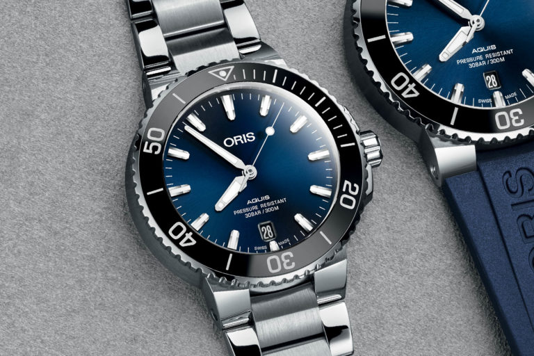 The Oris Aquis Date Now In A 39 5mm Case Monochrome Watches