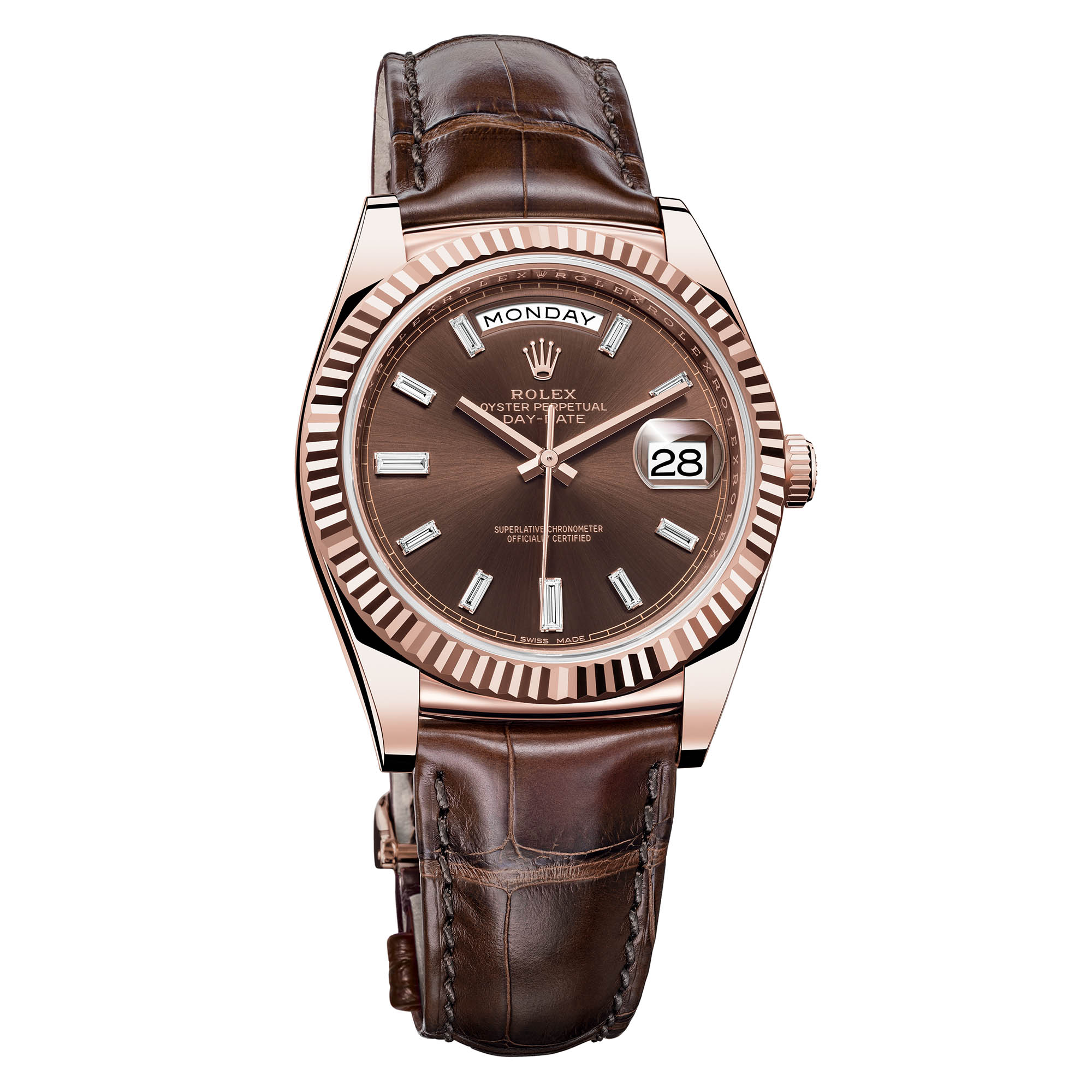 Rolex Day-Date 36 Everose Gold Leather Calibre 3255 - Rolex Baselworld 2018 - Rolex Predictions 2018