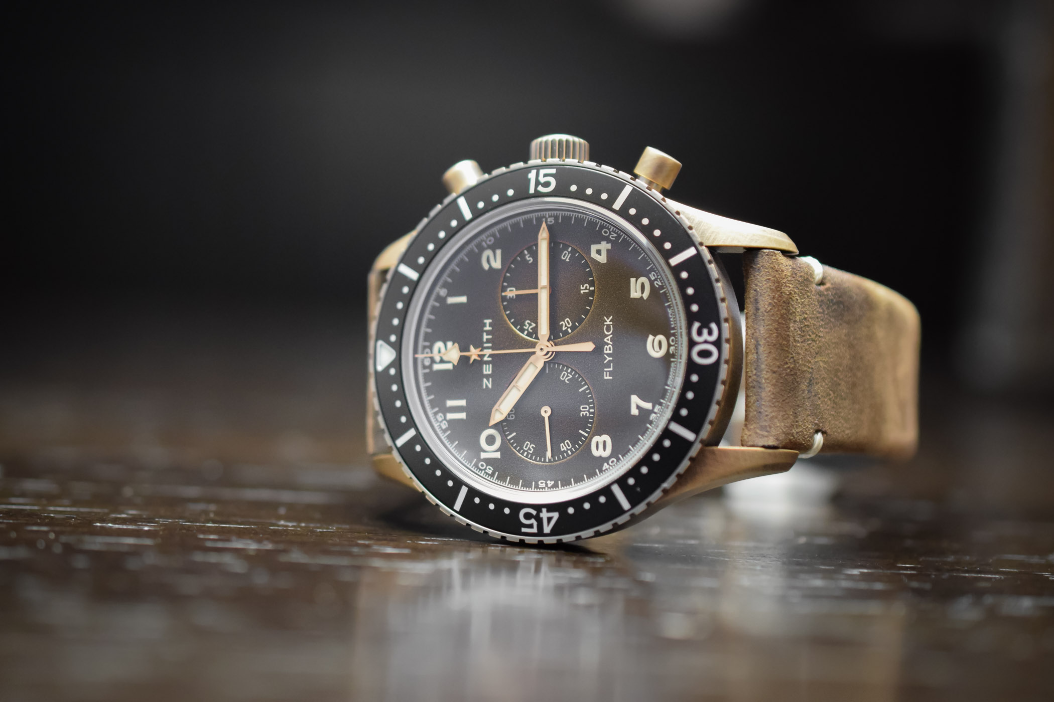 The New Zenith Pilot Cronometro Tipo CP-2 Flyback, with a Bronze or Aged Steel Case