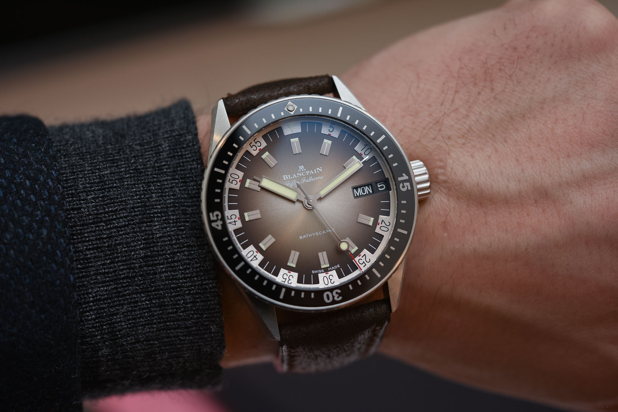 Best Dive Watches Baselworld 2018 - BLANCPAIN FIFTY FATHOMS BATHYSCAPHE DAY-DATE 70S