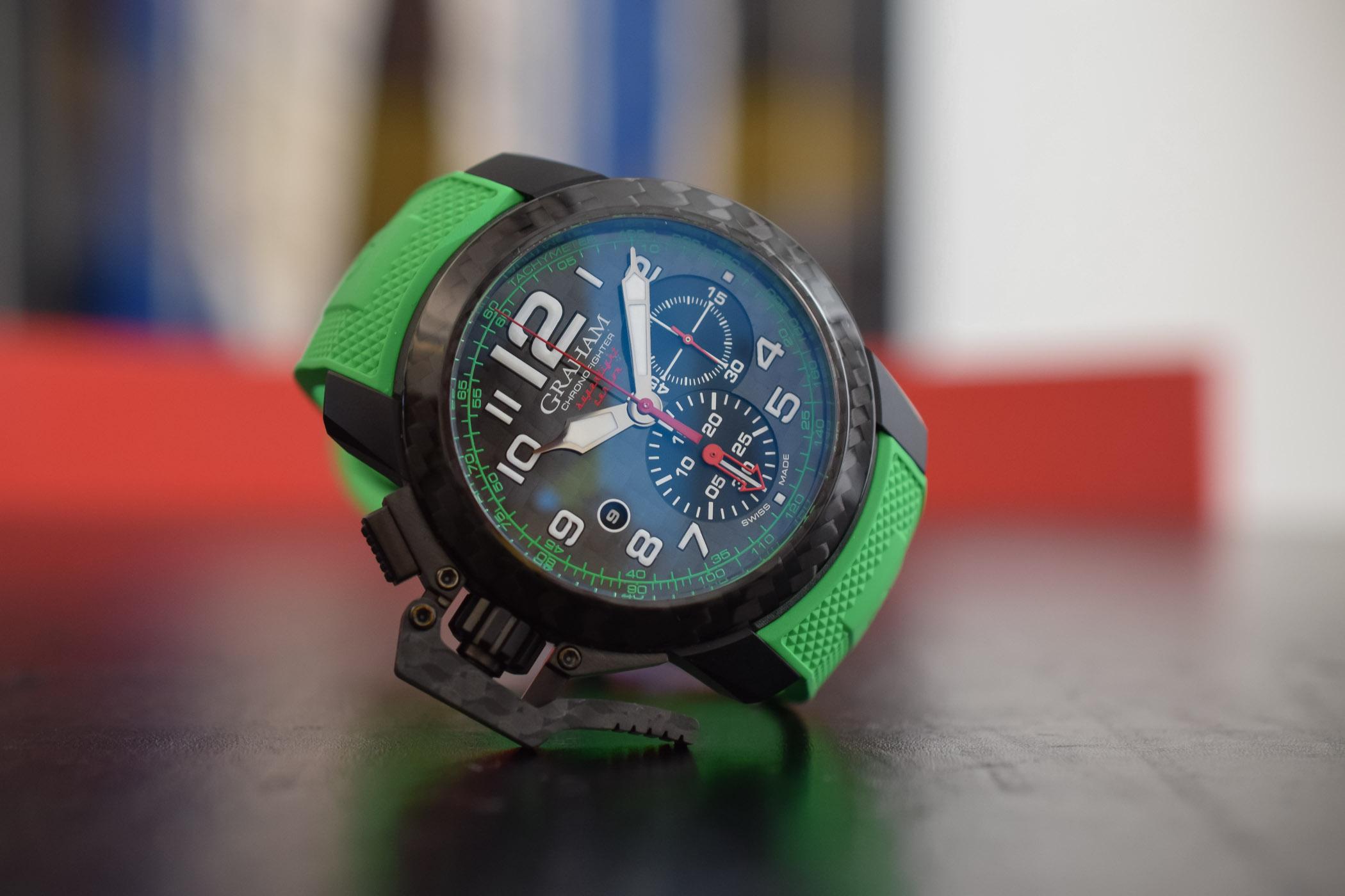 Graham Chronofighter Superlight coloured rubber - 1