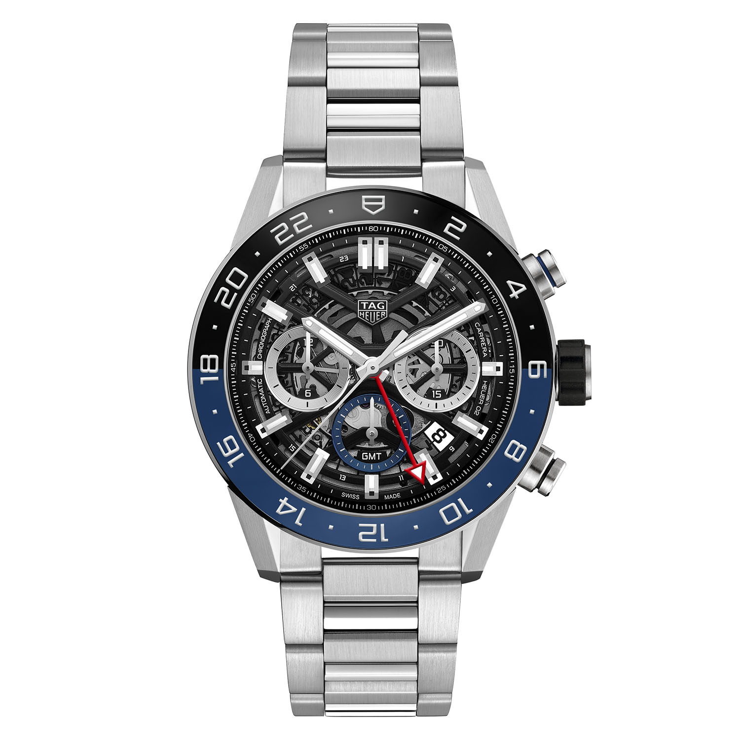 tag heuer carrera heuer 02 gmt chronograph baselworld 2018