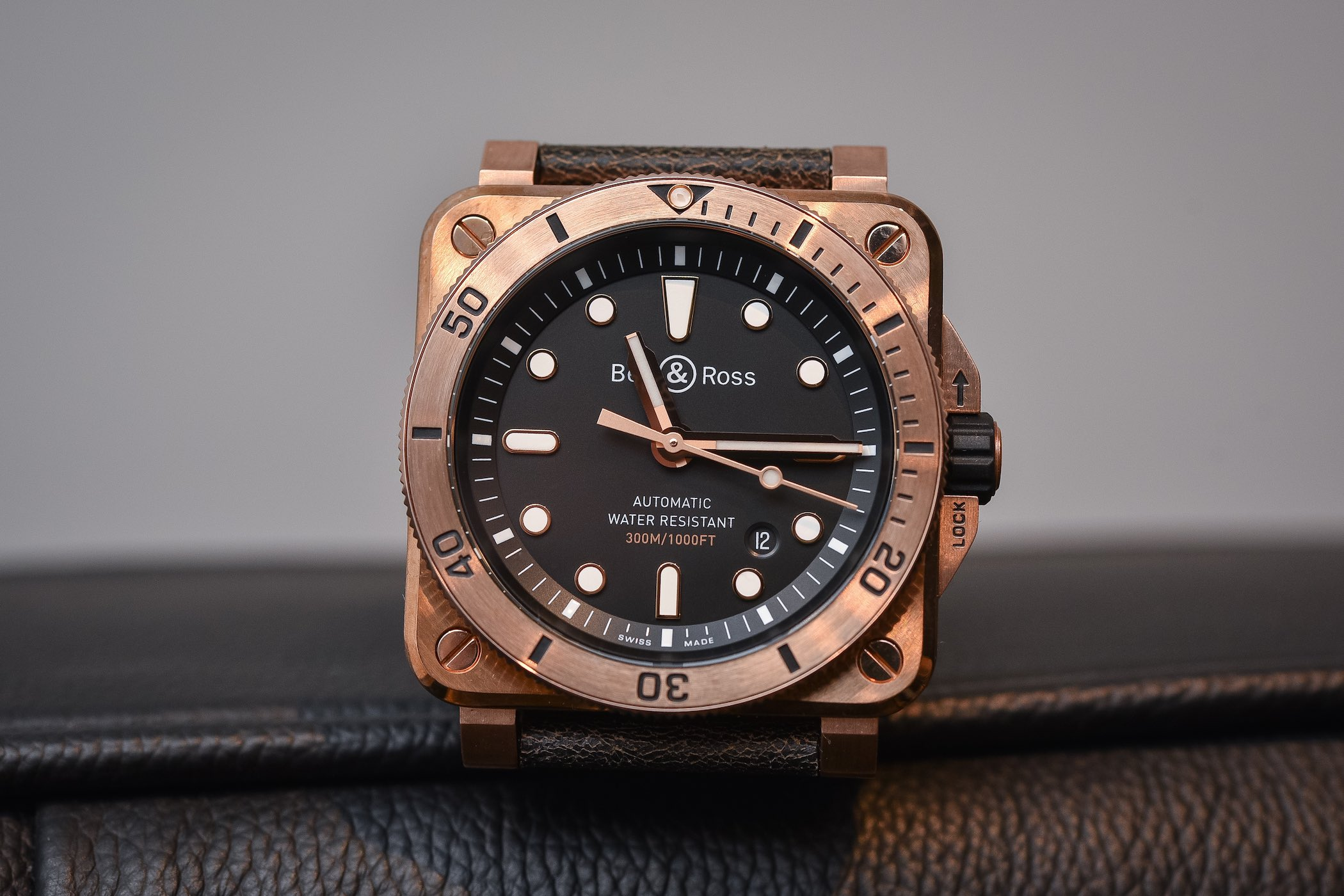 Hands on bell ross br03 92 diver blue and bronze - Bronze dive watch ...