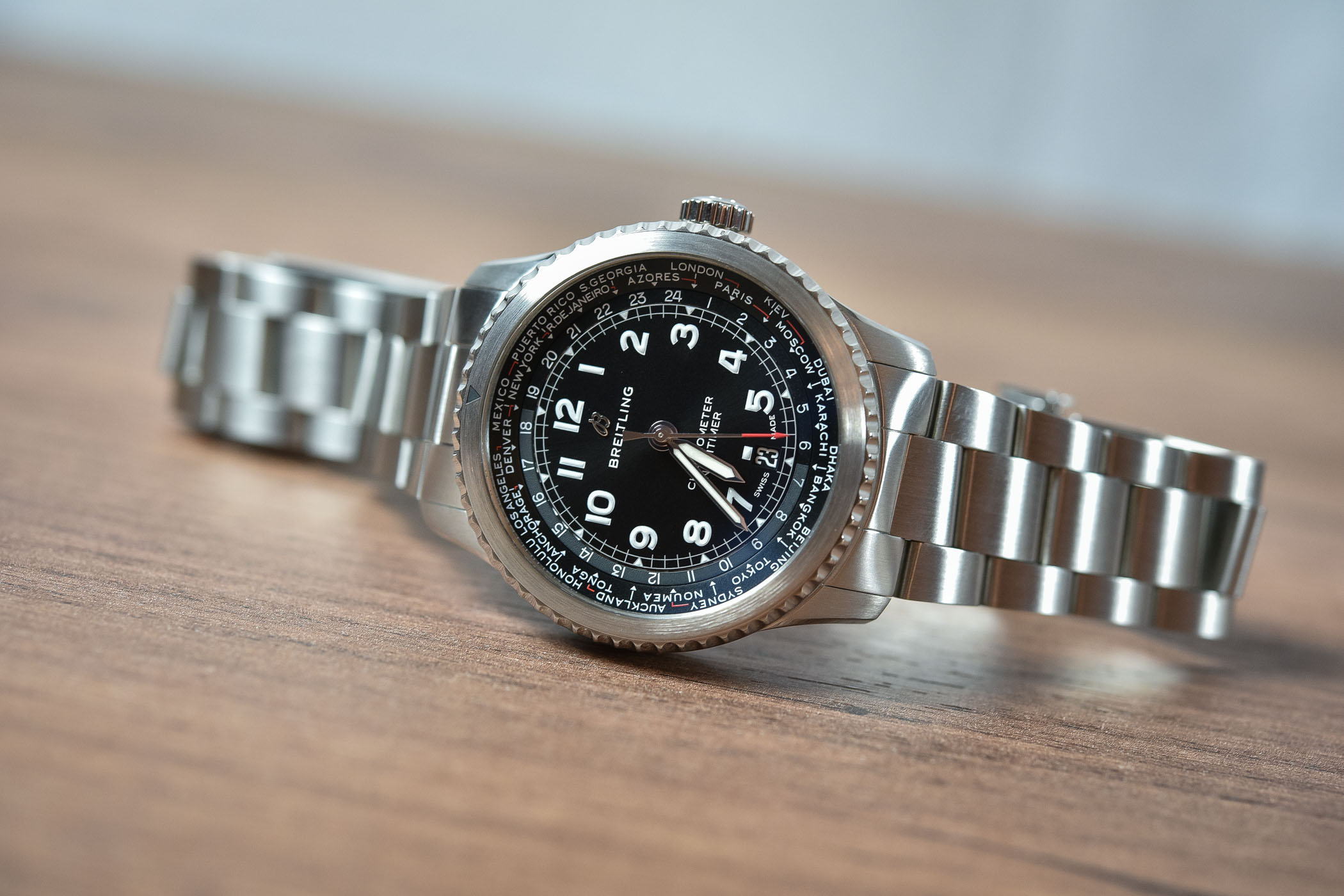 Best GMT Travellers watches Baselworld 2018 - Breitling Navitimer 8 B35 Automatic Unitime 43