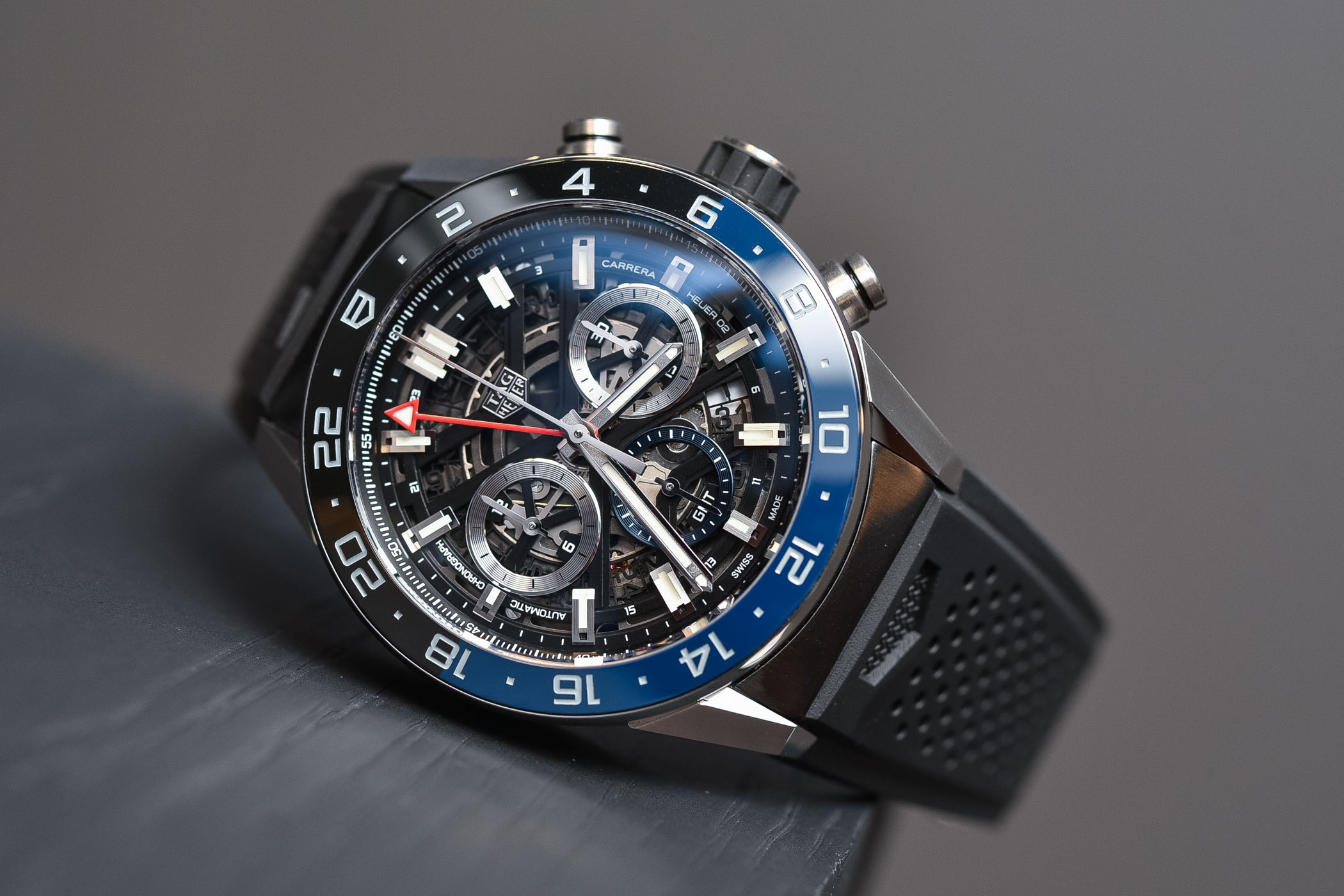 Best GMT Travellers watches Baselworld 2018 - TAG Heuer Carrera Heuer 02 GMT Chronograph