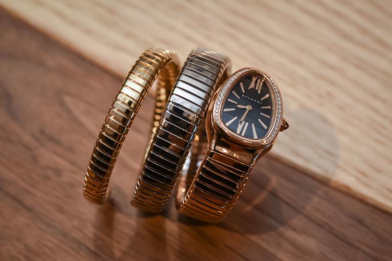 The Bulgari Serpenti Tubogas Three Golds Wrap The Wrist