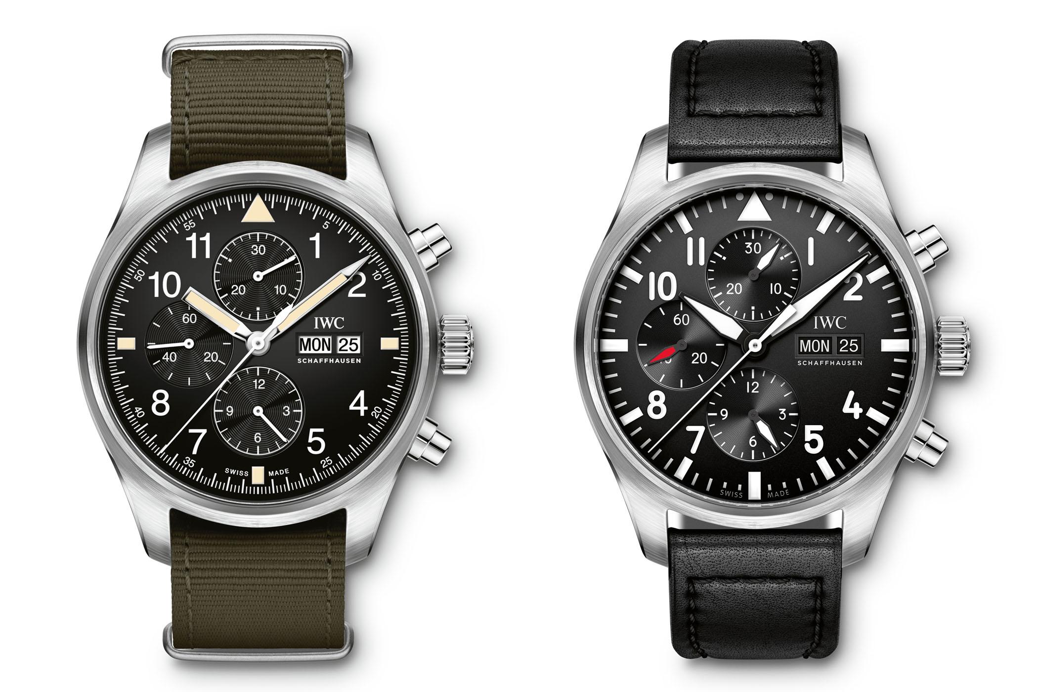 IWC Pilots Watch Chronograph IW377724 vs IW377709