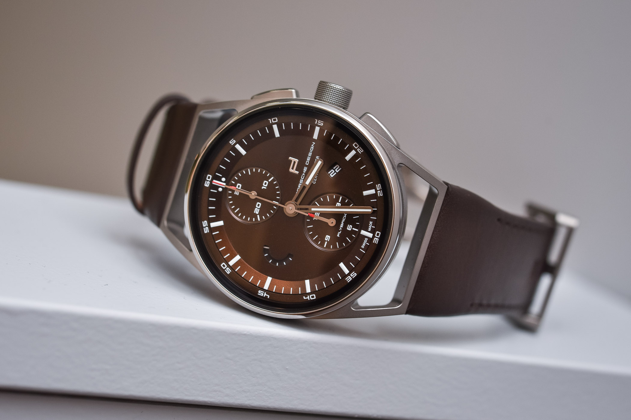 Porsche design 1919 Chronotimer Flyback Brown and Leather - Baselworld 2018