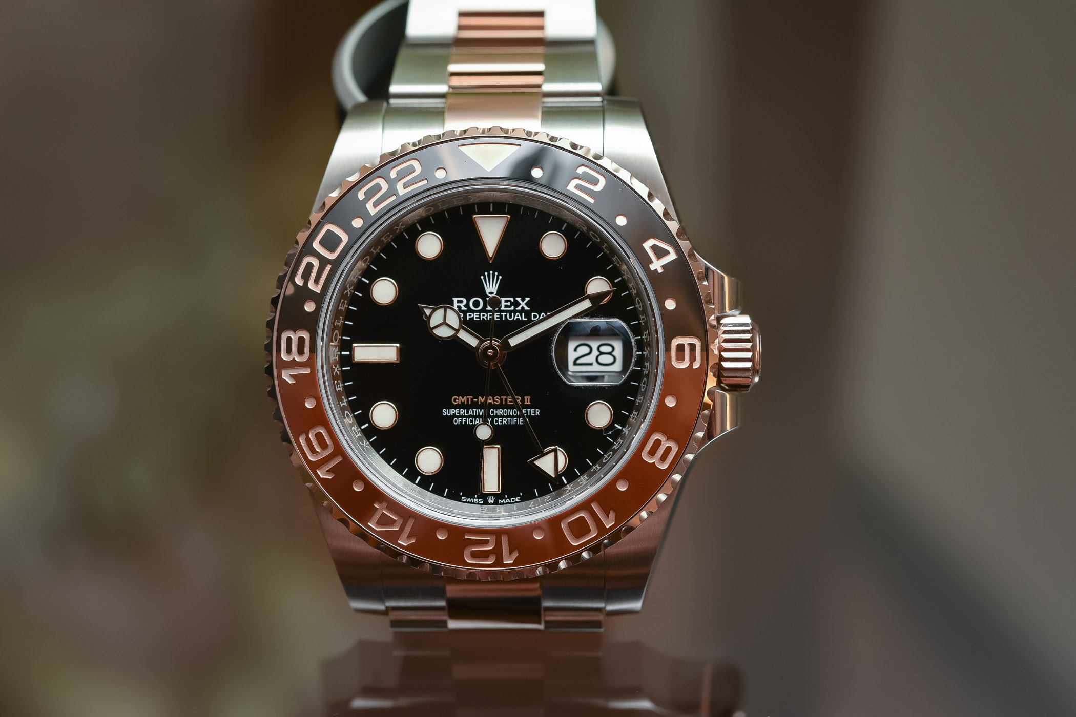 rolex gmt master ii 126711 chnr two tone root beer review specs