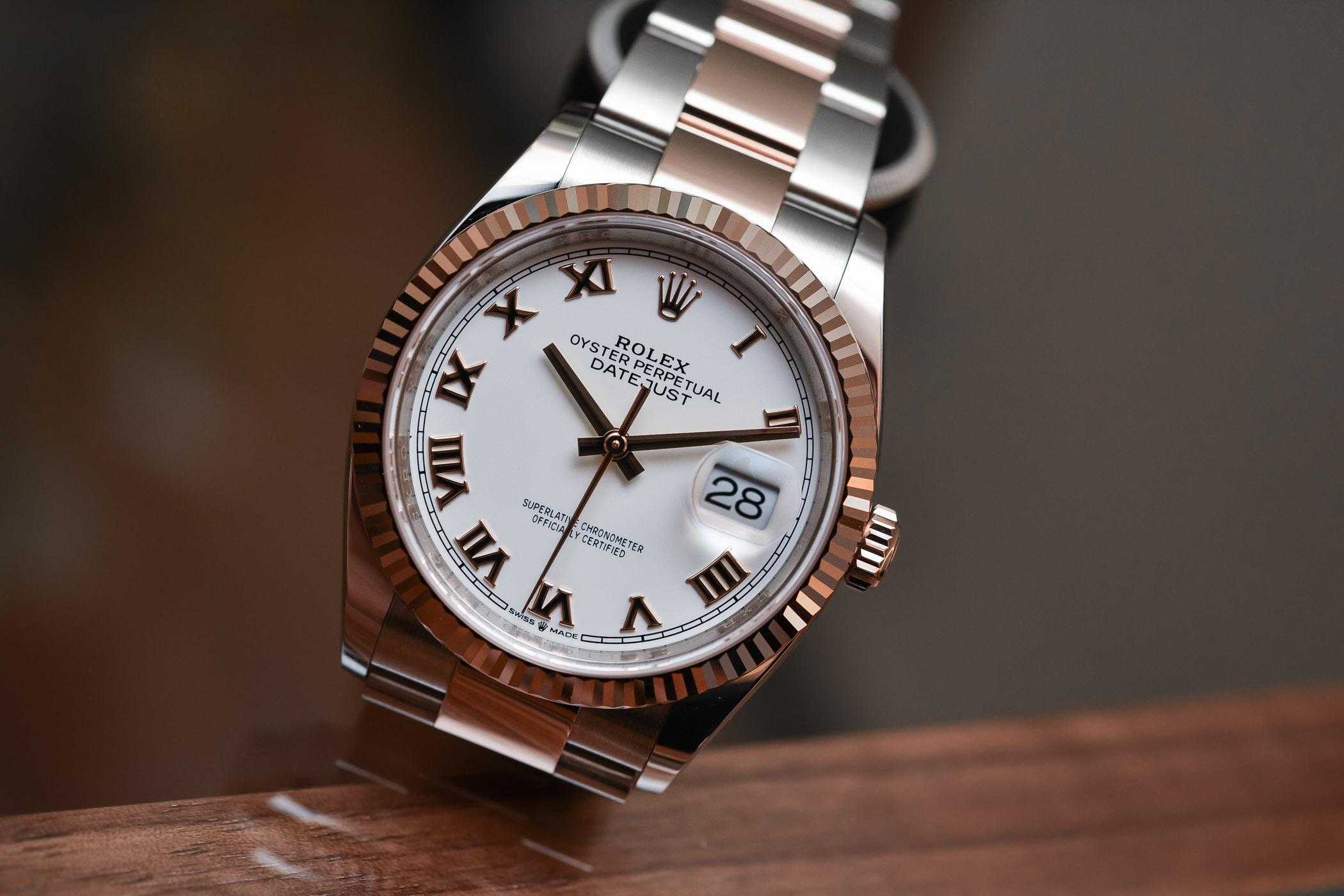 2018 Rolex Datejust 36 ref 126231 Rolesor Everose calibre 3235