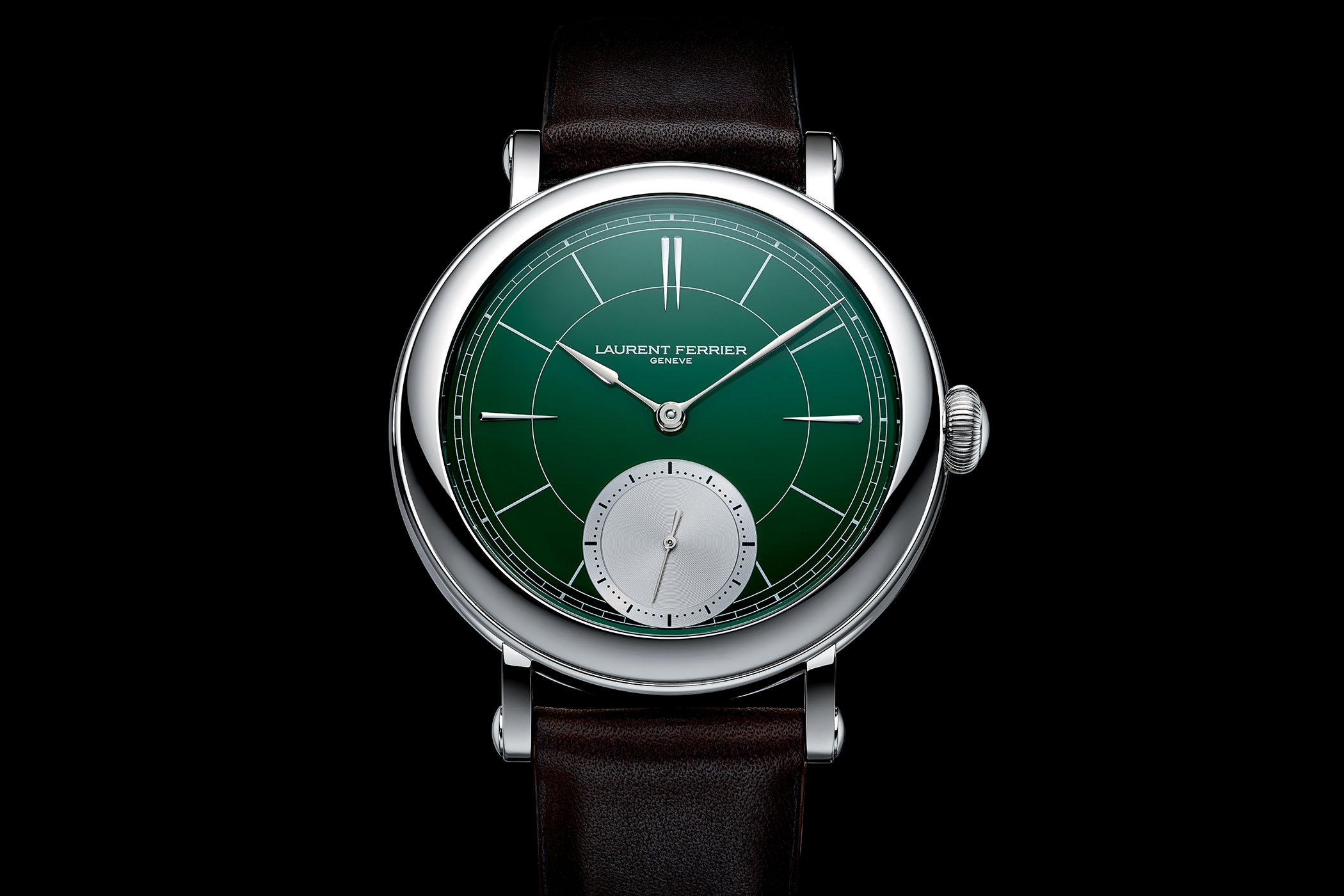 Laurent Ferrier Galet Micro Rotor Montre Ecole British Racing Green