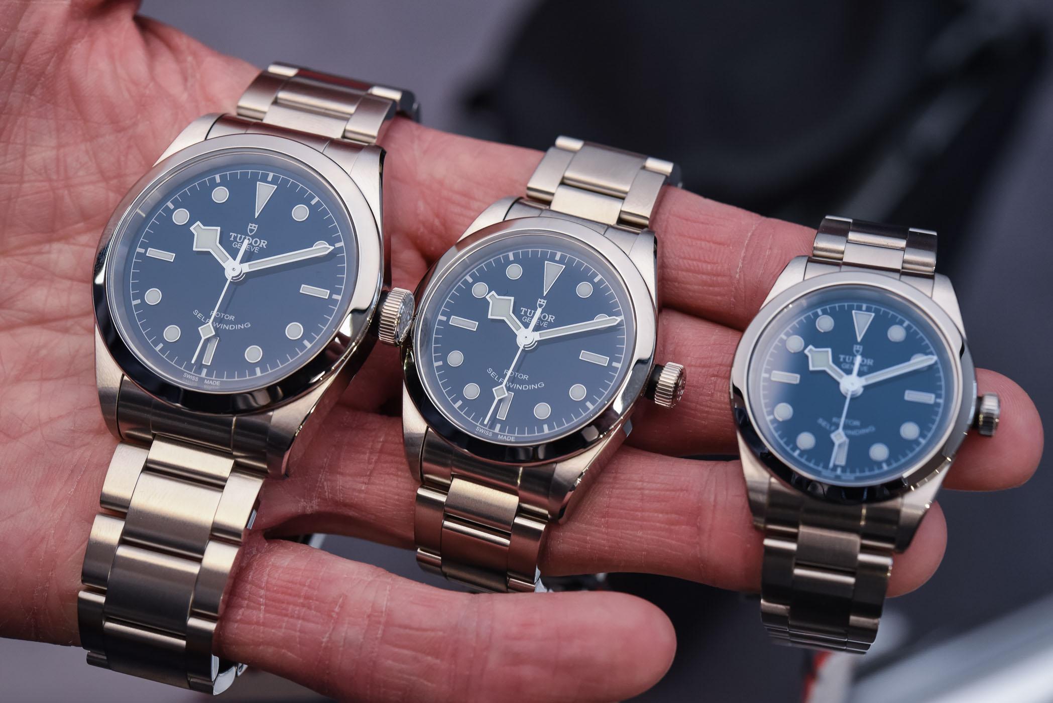 Tudor Black Bay Blue dials 41 - 36 - 32