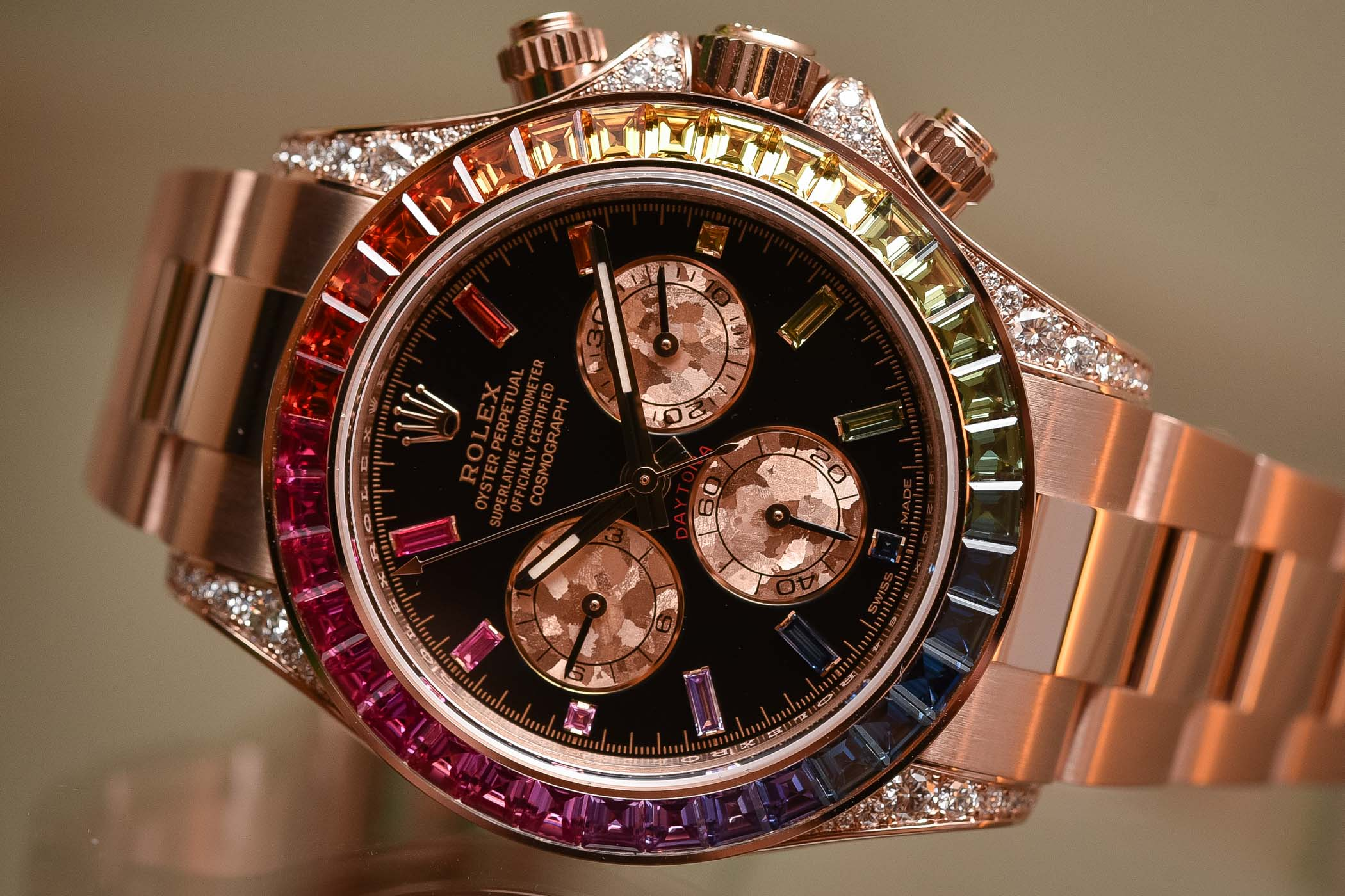 2018 Rolex Daytona Rainbow Everose Gold 116595RBOW