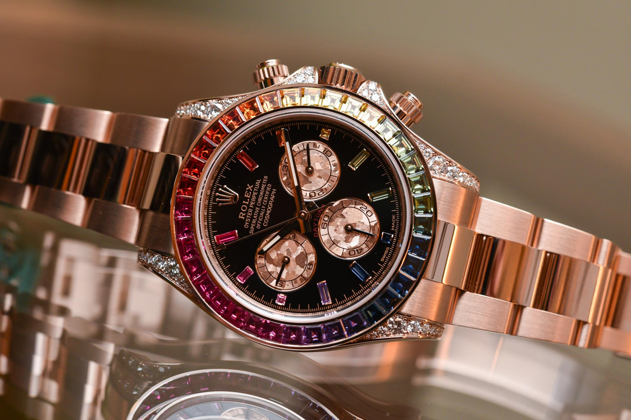 2018 rolex daytona rainbow everose gold 116595rbow 7. Black Bedroom Furniture Sets. Home Design Ideas