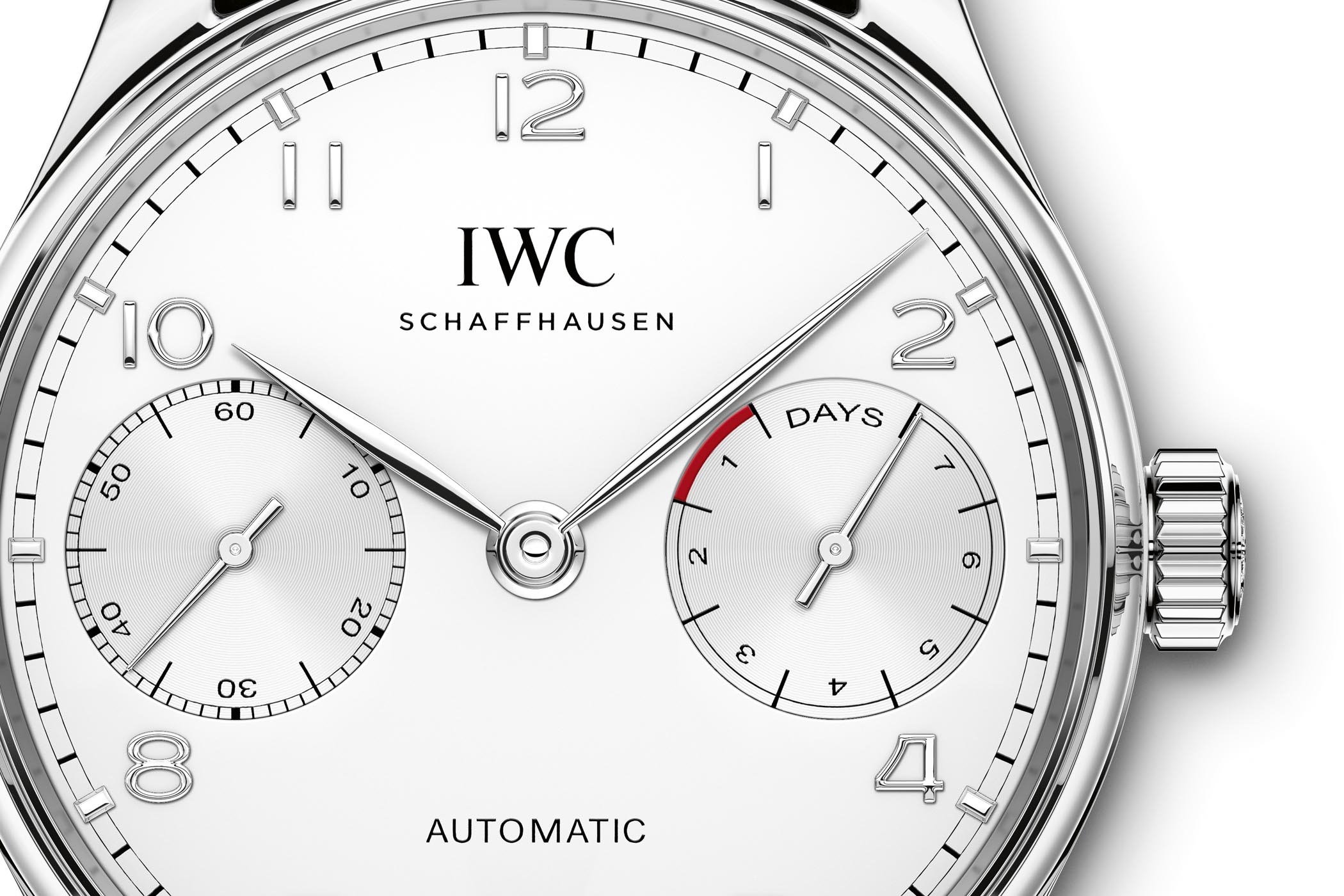 IWC Portugieser Automatic Steel Rhodium indexes IW500712