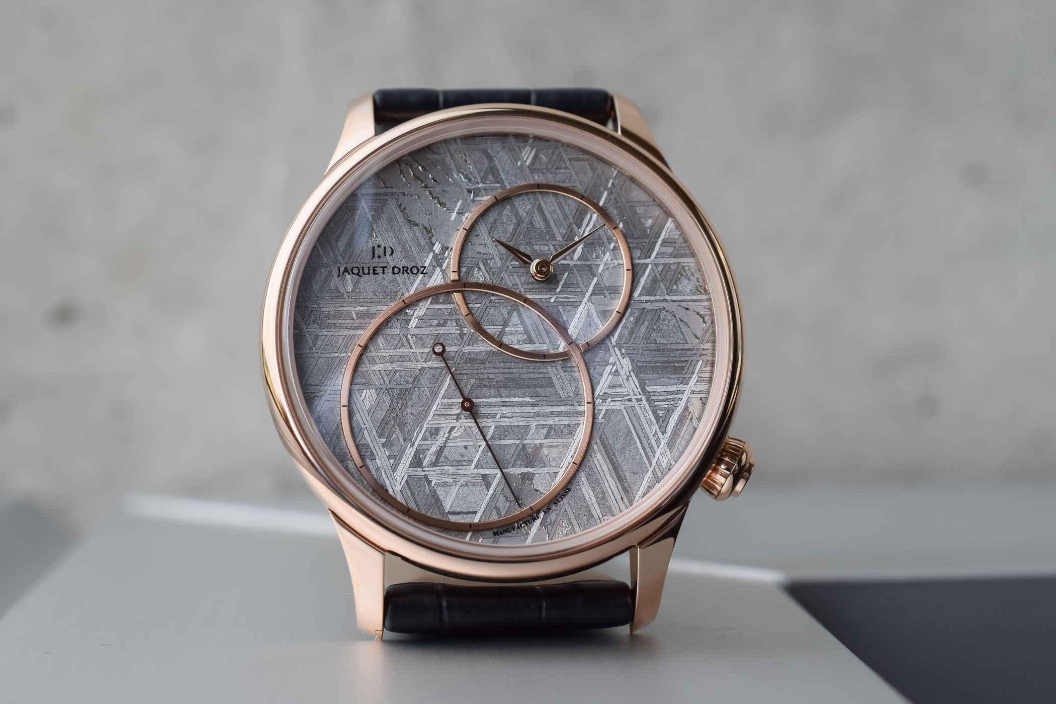 Jaquet Droz Grande Seconde Off-Centered with Meteorite or Stromatolite Dials