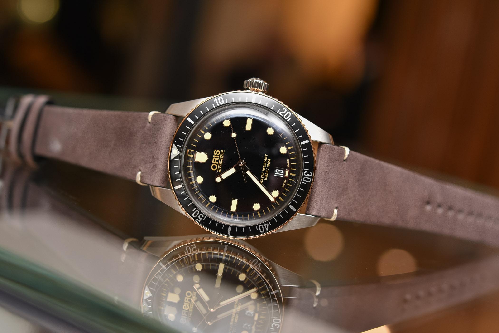 Oris Divers Sixty-Five Steel and Bronze 40mm