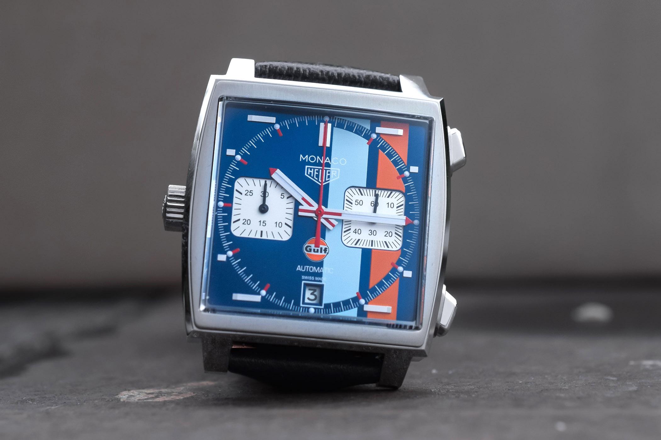 TAG Heuer Monaco Calibre 11 Gulf 50th Anniversary CAW211T