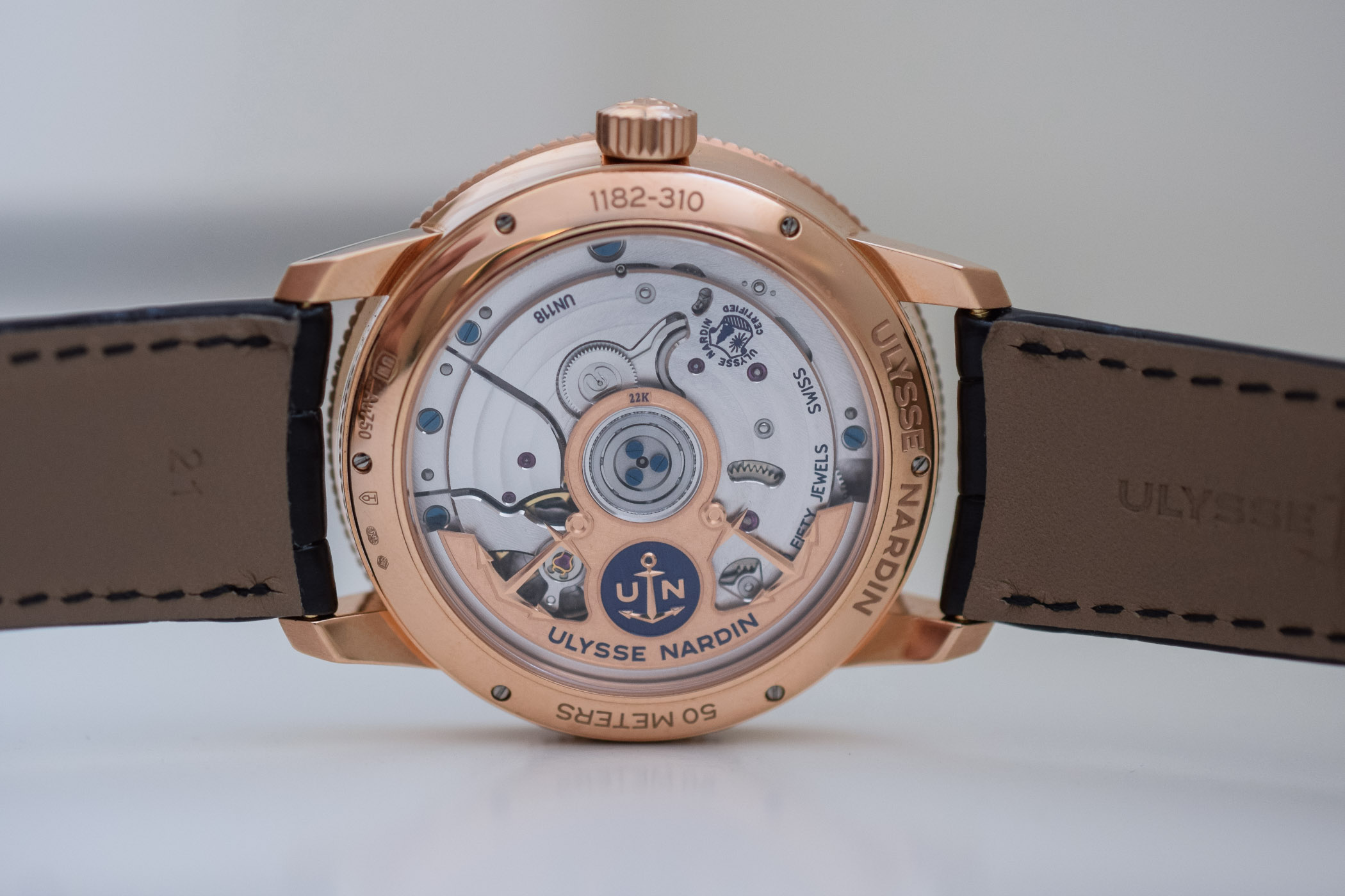 Ulysse Nardin Marine Torpilleur Collection 2018 - 1182-310:42 rose gold